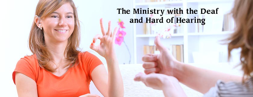 banner for deaf and hard of hearing ministries
