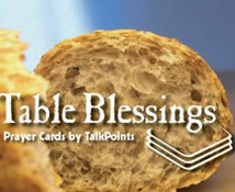 Table Blessing Prayer Cards