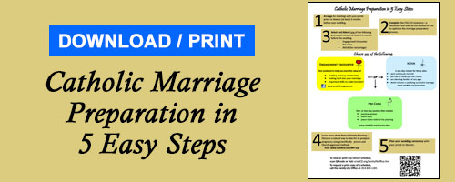 Advertisement for Marriage Prep - 5 easy steps